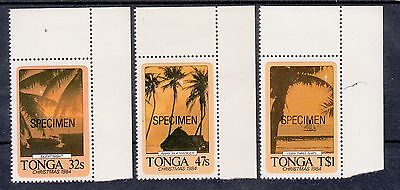 "Tonga 1984 Christmas set of 3 stamps  Overprinted ""Specimen"".Sg 893/895s.MUH/MNH"