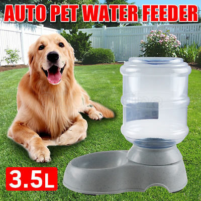 Large 3.5 Liters Automatic Pet Cat Dog Water Feeder Bowl Dispenser Plastic Home