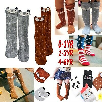Baby Kids Toddlers Cute Knee High Socks Tights Leg Warmer Stockings For Age 0-6
