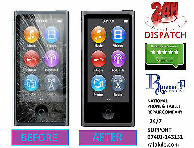 iPod Nano 7th Generation touch Screen Glass Replacement - 24 HOUR REPAIR SERVICE
