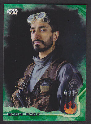 Topps Star Wars - Rogue One Series 1 - # 4 Bodhi Rook - Green Squad Parallel