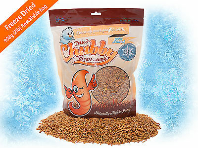 1.36kg Chubby Freeze Dried Mealworms for Birds Reptiles Poultry Fish 2lbs