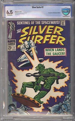 Silver Surfer # 2  When Lands the Saucer !  CBCS 6.5 scarce book !
