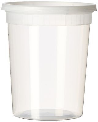 Sets 32oz Plastic Soup/food Container with Lids (12) 12 Pack