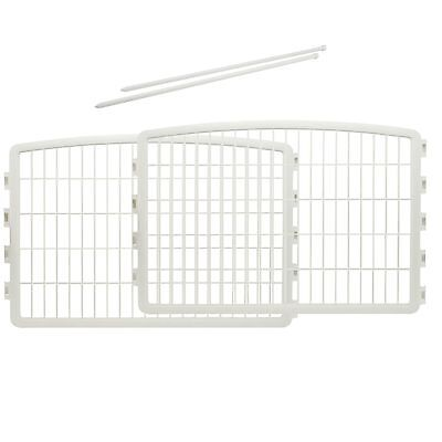 IRIS Plastic Puppy and Dog Pet Playpen White 24''H-Panel