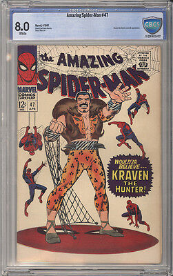 Amazing Spider-Man  # 47  Kraven the Hunter !  CBCS 8.0 scarce book !