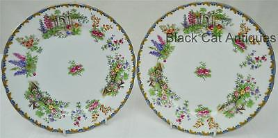 2 Beautiful Aynsley Bone China WILTON (SCALLOPED) Bread & Butter PLATES 6 1/8""