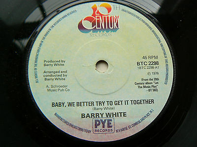 barry white      baby, we better try to get it together (a1  /  b1  pressing )EX