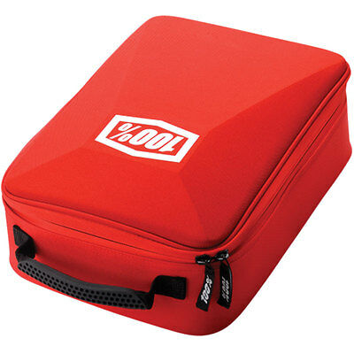 100% Motorcycle Goggles Case Red