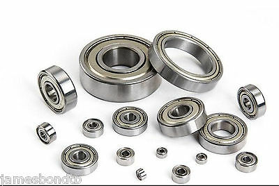 5/10pcs Metal Sealed Ball Bearing 6000ZZ 6001ZZ To 6904ZZ Deep Groove Bearings