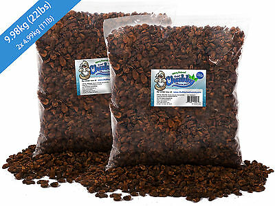 9.98kg Chubby Dried Silkworm Pupae for Koi Pond Fish Birds Reptiles Poultry 22lb