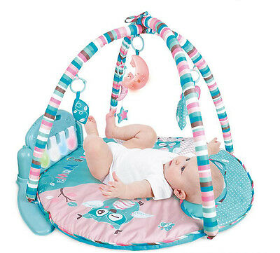 Baby Kick and Gym Play Mat Lay & Play 3 in 1 Fitness Music And Lights Fun Piano