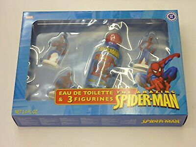 The Amazing Spider-Man Eau De Toilette Spray 100ML & 3 FIGURINES GIFT SET For Ki