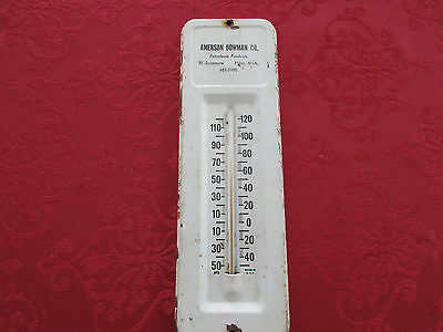 * Vintage Petroleum Products Company Metal Wall Thermometer- Works!