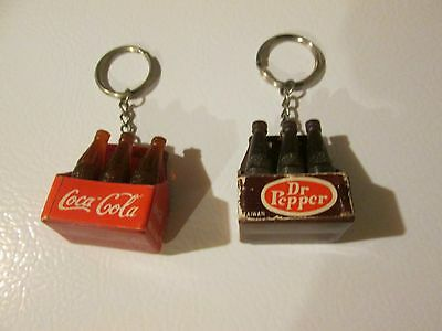 Vintage Soda Key chains Coca Cola Dr Pepper