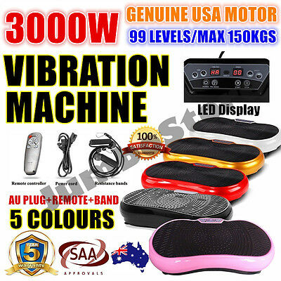 2400W Slim Vibration Machine Trainer Plate Platform Body Shaper Exercise Fitness
