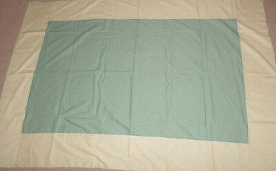 Vintage Green And Yellow Calico Kitchen Cotton Table Cloth 80X55