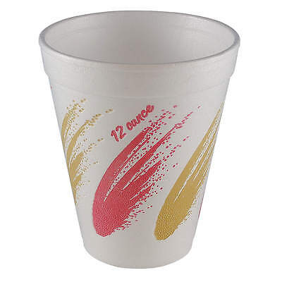 WINCUP 12 oz. Disposable Cold/Hot Cup,  Foam,  White,  PK 1000 C12ASIM ll