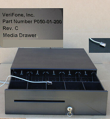 VeriFone Cash Drawer w/Till,Key,Cable for Topaz,Ruby,Ruby2 P050-01-200,free ship