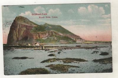 GIBRALTAR - ROCK FROM THE LINEA 1909 Postcard, Postmarked CAIRO *