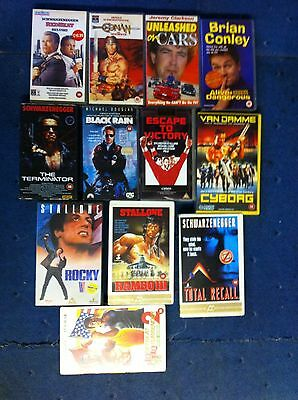 Used Joblot of VHS Videos Clarkson Van Damme Collection Only