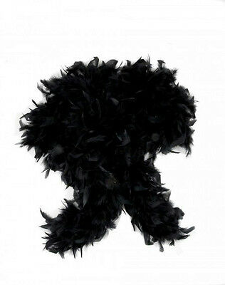 "72"" Black Feather Boa Great Flapper Costume Accessory"