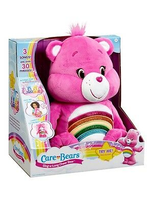 Care Bears 'Cheer Bear' Sing-a-long Plush Interactive Toy Brand New Gift