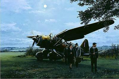 Robert Taylor print, They Landed by Moonlight, w/companion print and signed book