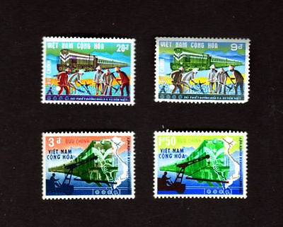 Re-opening of Trans-Vietnam Railways, Train,  outh Vietnam 1968 MNH 4v - E75