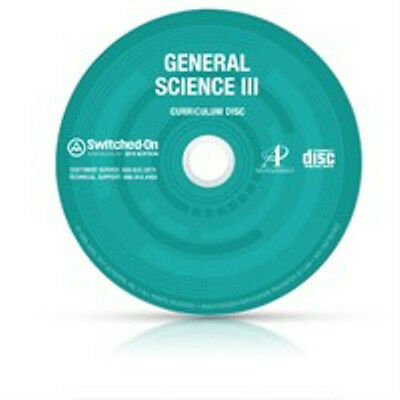 SOS General Science Homeschool Curriculum CD Switched On Schoolhouse Grades 9-12