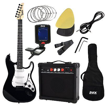 LyxPro Complete Beginner Starter kit Pack Full Size Electric Guitar with 20w All