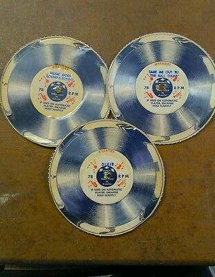 Wheaties cereal box 78 RPM records set of 3
