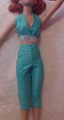 "Turquoise Capris & Halter for 18"" Kitty Collier or Miss Seventeen"