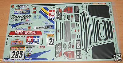 Tamiya 58602 Mitsubishi Pajero Rally/CC01, 9495837/19495837 Decals/Stickers, NIP