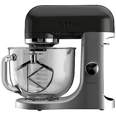 Kenwood kMix KMX50BK Stand Mixer Kitchen Machine 5L Glass Bowl, 500W in Black