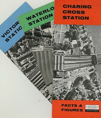 CHARING CROSS, VICTORIA and WATERLOO stations - track layouts etc leaflets