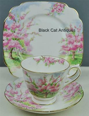 "Royal Albert Blossom Time Trio Tea Cup & Saucer + Dessert  Plate 7 5/8"" Trio #A"