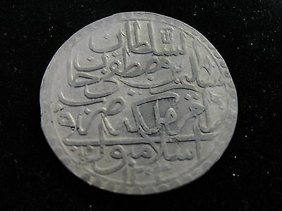 AH 1203/ Yr2 Turkey 2 Zolota Silver Coin Looks VF K# 501