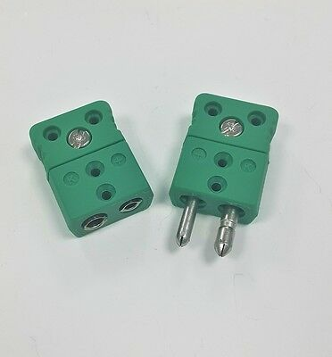 K Type Thermocouple connector Male & Female IEC 584 Green Plug & Socket