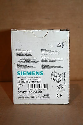 Siemens 3Th2180-0Ak6 Control Relay