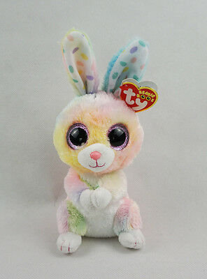 "6"" TY Beanie Boos New Gift Glitter Eyes Bubby Bunny Rabbit Plush Stuffed Toys"