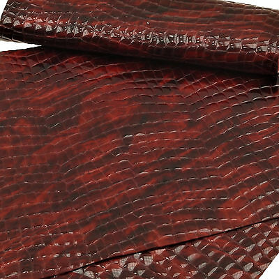 Kalbsleder Reptil Kroko Design 1,2 mm Dick Echt Leder Rindleder Haut Leather 218