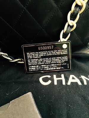 Classic Chanel Large Black Quilted Leather Handbag With Double 'chain' Straps