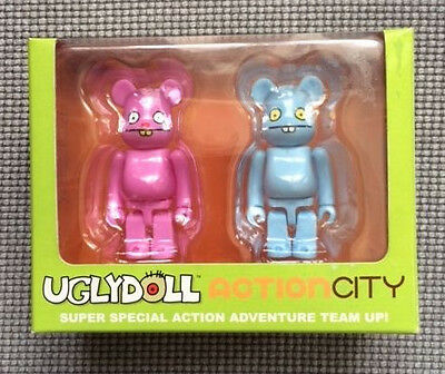 bearbrick be@rbrick ugly doll box 2 piece set 100% trunko and babo
