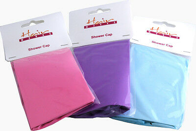 Shower PVC Cap Waterproof Bathing Hair Beauty & Care Protection Hat Pack Of 6