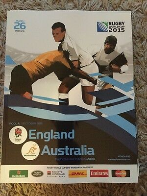 England v Australia Rugby World Cup 2015 match programme
