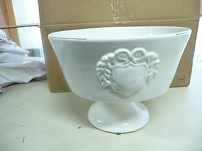 LARGE POTTERY BARN Decorative Footed Bowl White 4040 PicClick Enchanting Pottery Barn Decorative Bowls