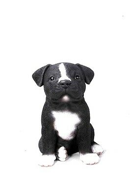 Staffordshire Bull Terrier Puppy New Intricately Detailed Figurine Free Ship