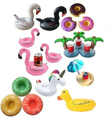 Inflatable Flamingo Drink Holders Animal Swimming Pool Hot Tub Holiday Bath Can
