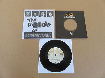 "SEX PISTOLS God Save The Queen / No Feeling A&M 7"" RARE NUMBERED 1ST UK REISSUE"